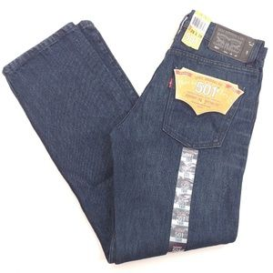 LEVI'S 501 Mens Blue Jeans Straight Leg Button Fly